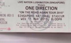 Selling a pair of One direction Standing Pen B tickets