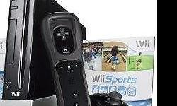Wii console for sell, good condition, black color, with