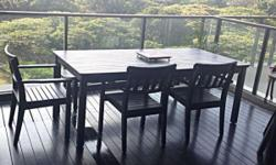 Durable and weather resistant outdoor dining furniture