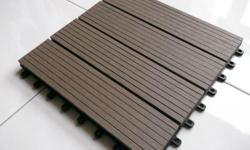 Easy to Interlock DIY Wood-Like DECKING TILES for