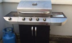 4 Burner Gas Grill Comes with Grill Cover & Gas Tank