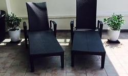 Selling 2 outdoor loungers in excellent condition -