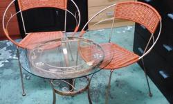 Cane table and 2 chairs Self collection welcome. Visit