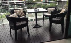Outdoor table and 4 chairs. In good condition for sale