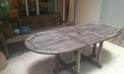 Wooden Outdoor Table for Sale Water resistant Call me