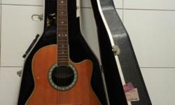 Preloved Ovation Guitar with hard case Model CS:148