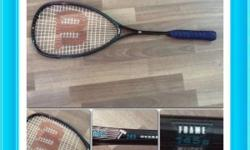 A Pair of high quality Prince and Wilson squash rackets