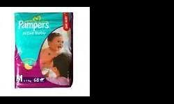 Pampers $60/ctn Packaging - 3 packets / ctn M - 66s L -
