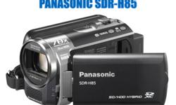 Panasonic SDR- H85 Video Camera Used Only Once Complete