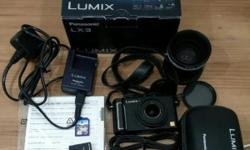 Used Panasonic Lumix LX3 digital camera complete set:
