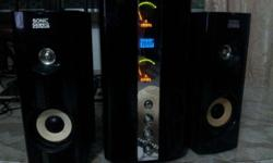 SonicGear Evo 500 Fx subwoofer + 2speakers working