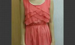 Peach Color Chiffon Dress Condition: 10/10 Length: 77