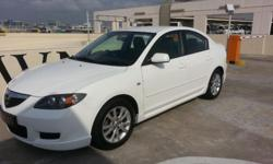 Pearl white mazda 3 1.6a sp luxury for sales , 1owner ,