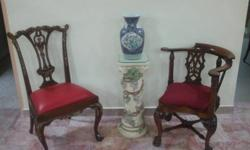 Peranakan GiltedChair & Corner English Chair forsale