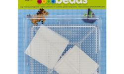 - 2 clear interlocking pegboards - Simply place beads