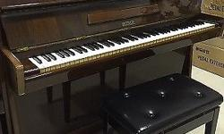 PETROF upright piano, PETROF used piano, brown color,