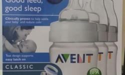 One box of Philips Avent Classis milk bottles (3 x