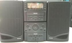 A vintage Philips FW 16 CD micro system. Sound is still