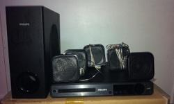 Philips Home Theatre DVD Player, 5 speakers & 1 woofer