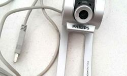 Selling used Philips webcam. Working condition. Only