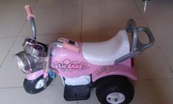 Pink Princess Battery Operated Motorcycle Suitable for