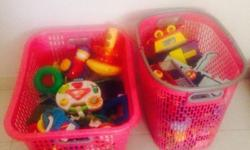 Hi friends I am selling my kids toys 1. Each basket of