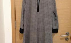 Plaid black Kaftan and Trousers (Size XL / 14 - 16)