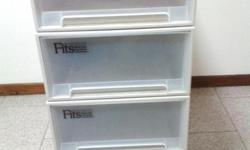 FITS plastic stackable drawers beige color like new.