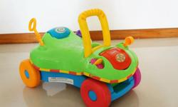Working condition baby walker doubled as toy car. As a