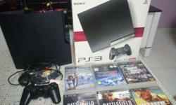 PS3 slim 120GB black model in great condition (9/10)