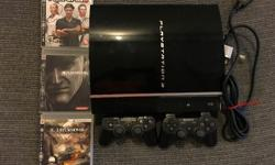 Playstation 3 in very good condition for sale: Two