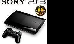PlayStation 3 - with 3 games & wireless controllers -