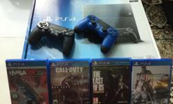 Playstation 4 500 gb with 4 games and 2 controllers 6