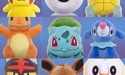 09 x plush toys of Pokeman