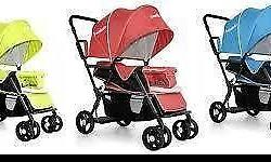 The Seebaby double stroller T12 is a two seater baby