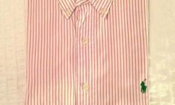 Mens dress shirt branded Polo by Ralph Lauren.