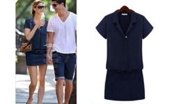 navy blue polo shirt dress size M