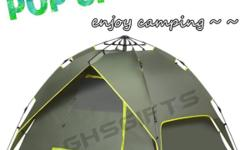 - OLIVE GREEN COLOUR - 4-MEN TENT - TWO DOORS - AUTO