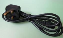 For sale: Power cord (used) - Length: 1.5m - 1.8m -