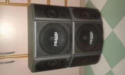 BUILT IN 8 INCH WOOFER WITH TWO TWEETERS, CAN ALSO USE