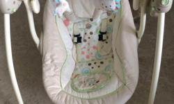 Lightly used baby swing is available for sale It makes