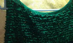Emerald Green dress with beautiful ruffled silk chest