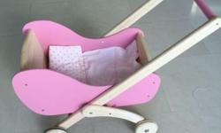 Pre-loved pink wooden walker $25 In good condition -
