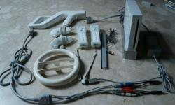 Wii console with original accessories. Additional: Wii