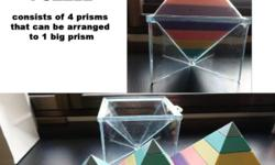 Prisms Puzzle Preloved 4 different size of prisms that