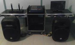 Professional DJ & Mixer pa/av system with flight case