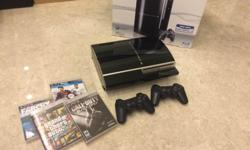 PlayStation 3, boxed with instructions, 80GB. Perfect