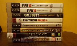 Selling 8 ps3 games all in good condition in original