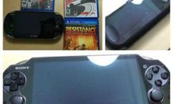 Selling ps vita with 3 games ,ps vita has screen