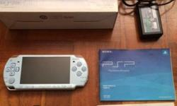 PSP with original box, charger, 1 original battery and